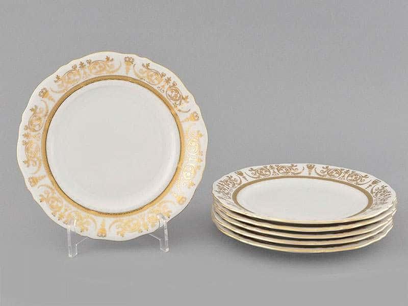 Набор тарелок десертных  6шт. 17см Соната Золотой орнамент