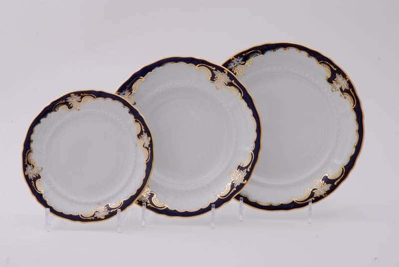 Набор тарелок десертных Соната Кобальтовый орнамент