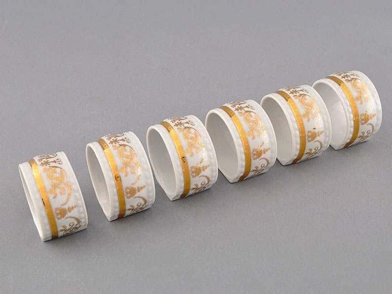 Набор колец для салфеток Соната Золотой орнамент