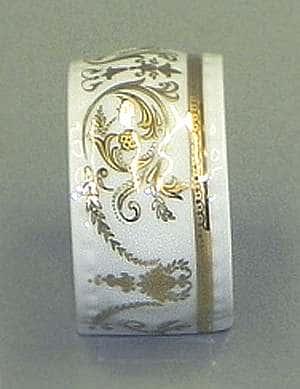 Кольцо для салфеток большое Соната Золотой орнамент