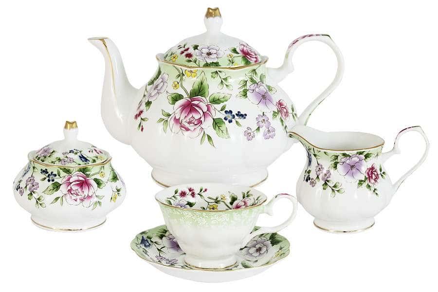 Чайный сервиз из 15 предметов на 6 персон Лаура