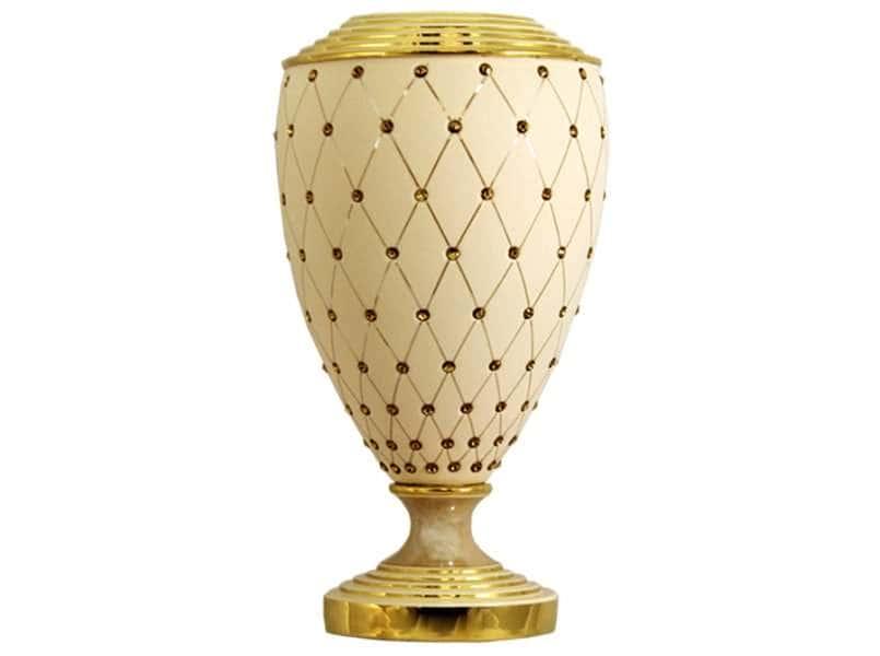Ваза декоративная Murano Cream Gold Delta Италия