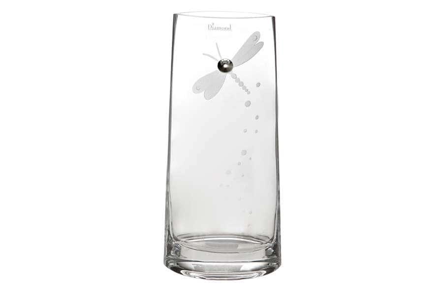 Ваза для цветов Стрекоза 27 см. Deco Glass  Польша