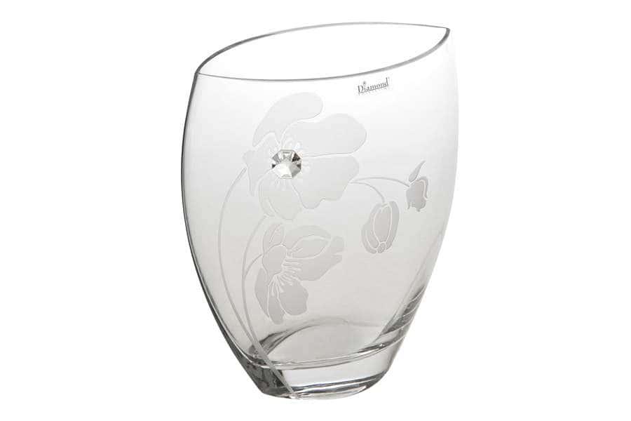 Ваза для цветов Маки 25см Deco Glass Польша