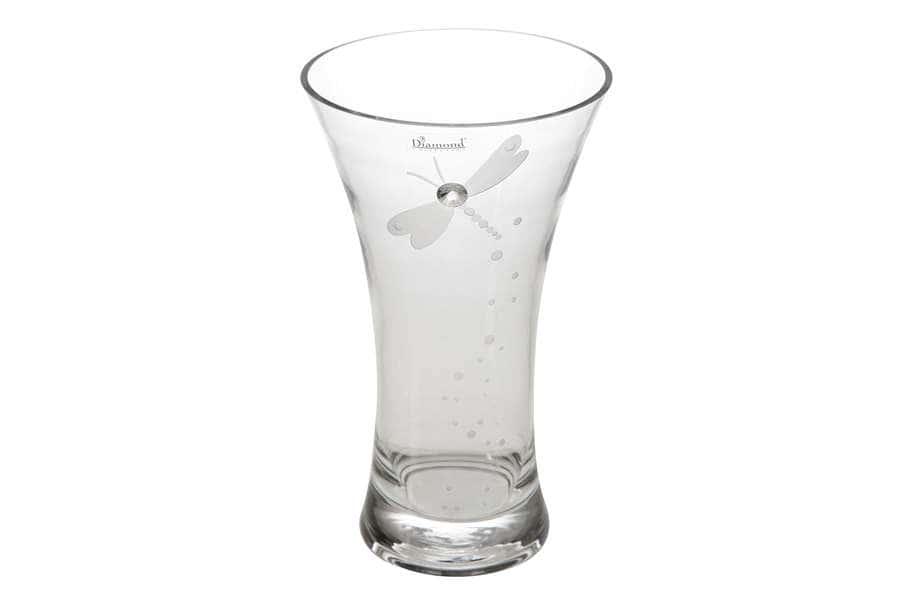 Ваза для цветов Стрекоза 25,5 см. Deco Glass Польша