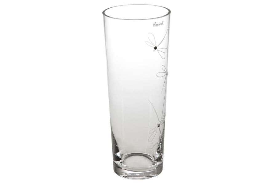 Ваза для цветов Стрекозки Deco Glass  Польша