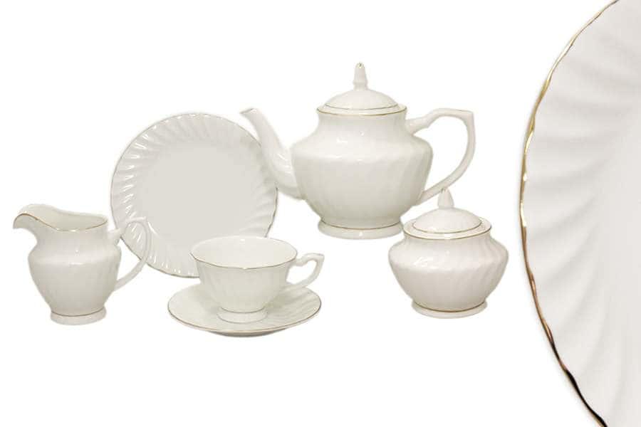 Чайный сервиз 21 предмет на 6 персон Волна Голд