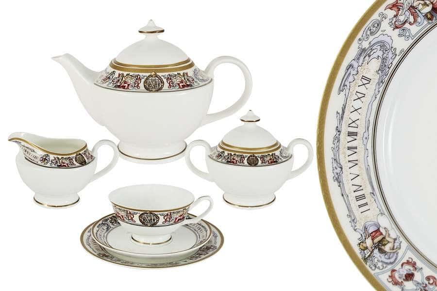 Чайный сервиз 21 предмет на 6 персон Мельпомена