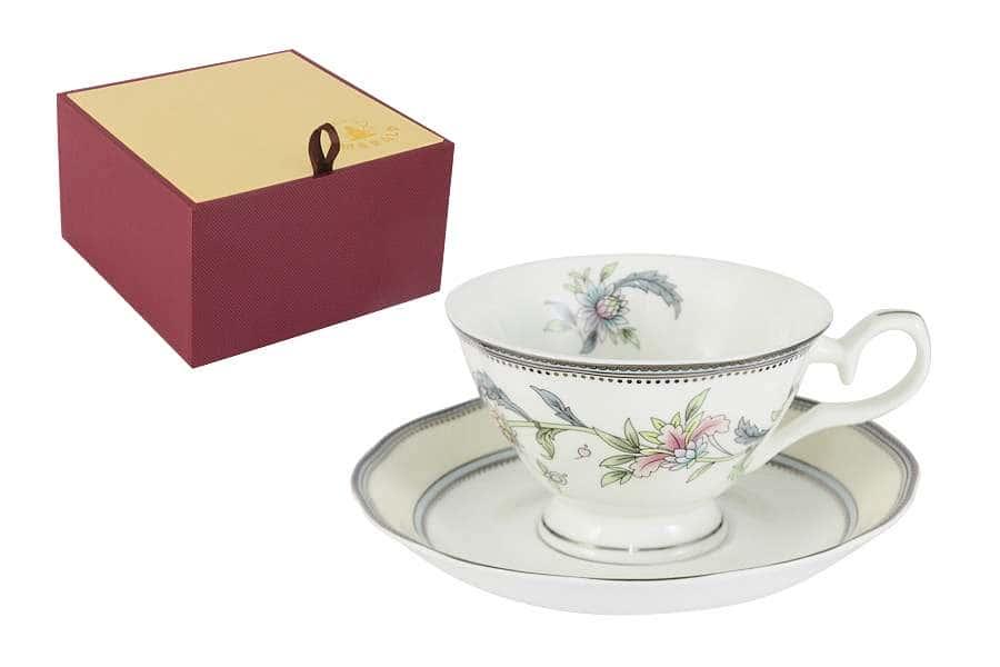 Чашка с блюдцем Сад цветов