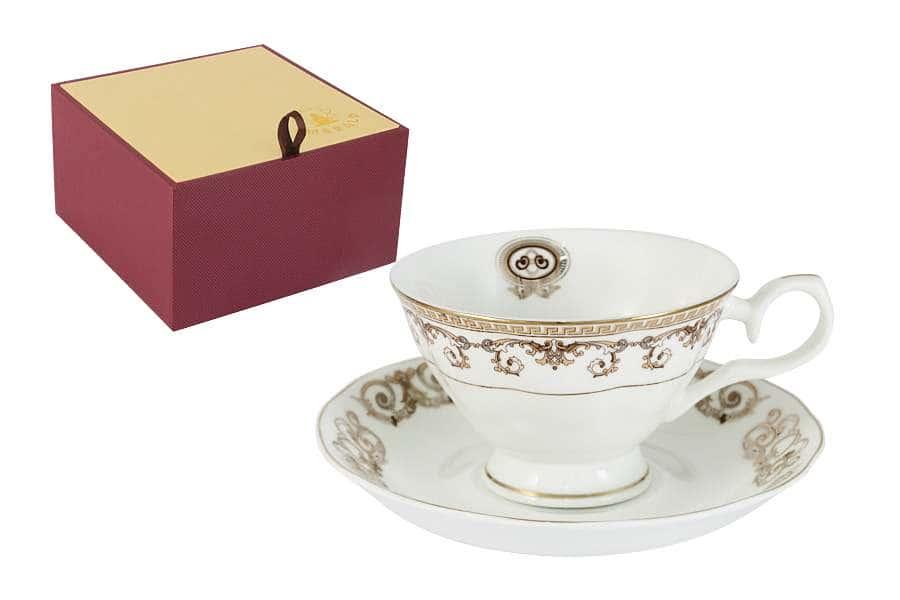 Чашка с блюдцем Версаче Золотой