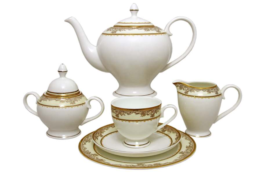 Чайный сервиз на 12 персон 40 предметов Ренессанс