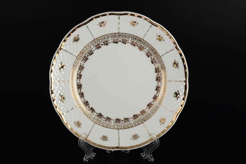 Менуэт Золотой орнамент Набор тарелок Thun 19 см