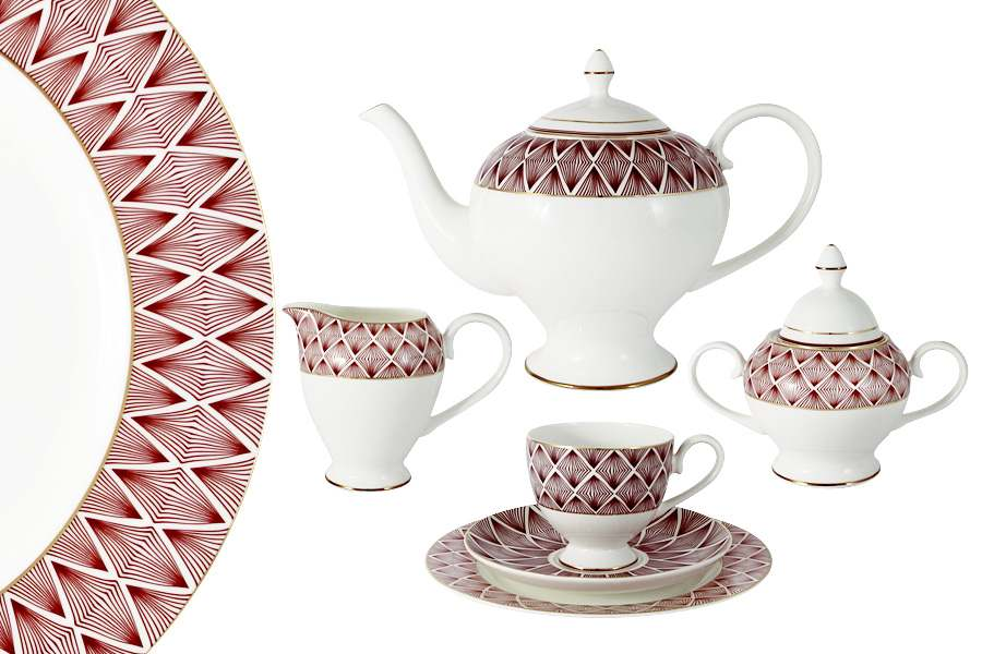 Чайный сервиз  21 предмет на 6 персон Фортуна