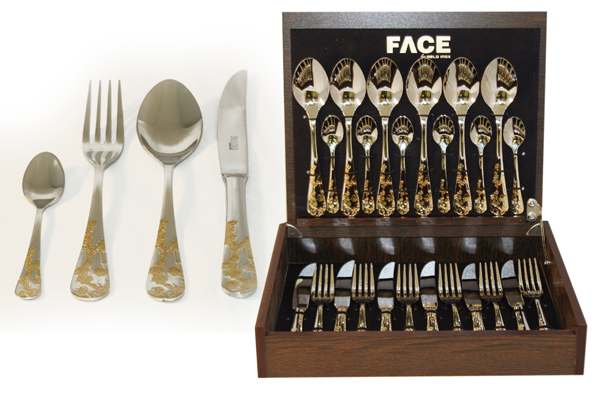 Набор столовых приборов 24 предмета на 6 персон Ankara в деревянной коробке.