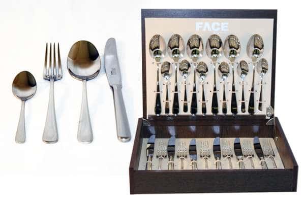 Набор столовых приборов 24 предмета на 6 персон Vilnius в деревянной коробке.