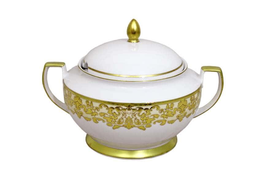 Супница Версаль (кремовый с золотом)