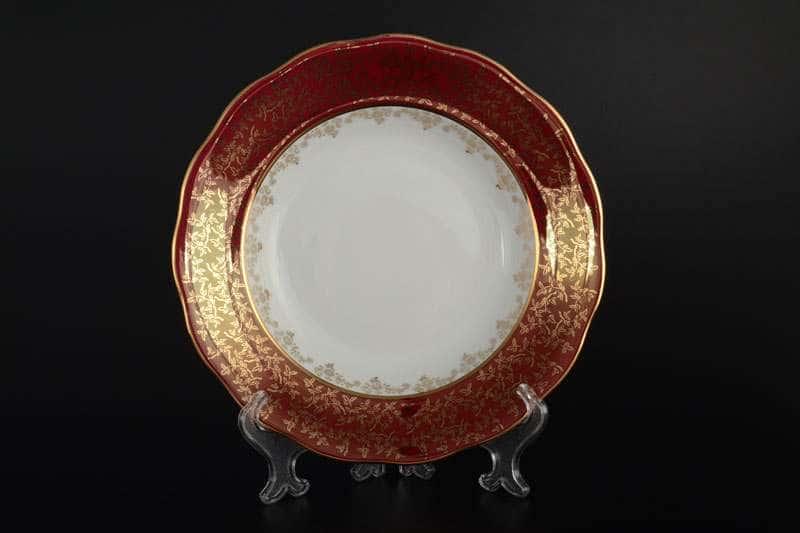 Красная паутинка б/т AL Набор глубоких тарелок Royal Porcelain 23 см