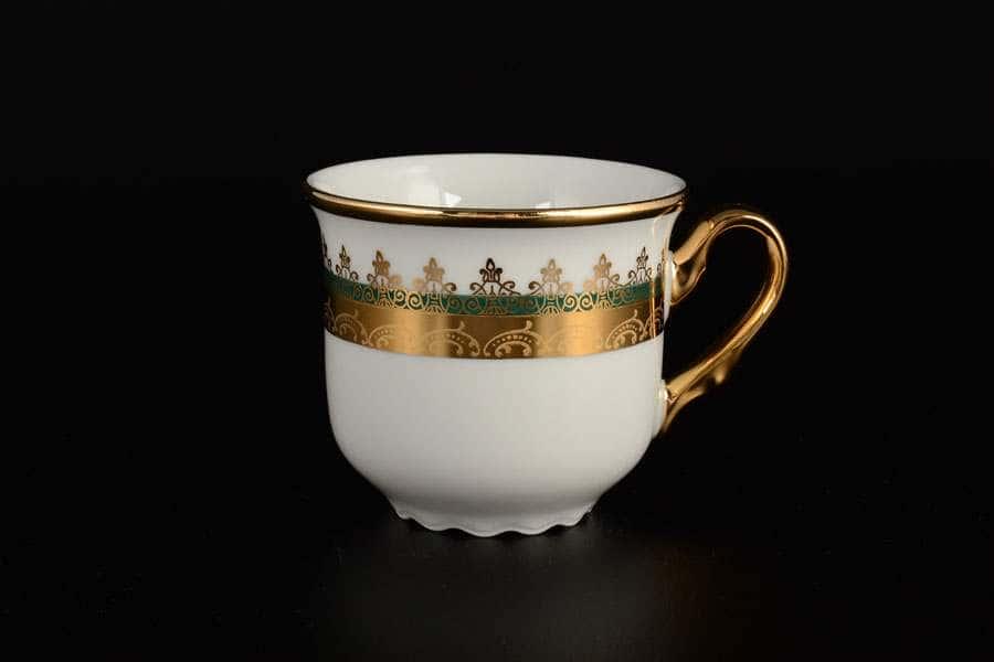 Чашка кофейная 150 мл Констанция Изумруд Золотой орнамент Thun