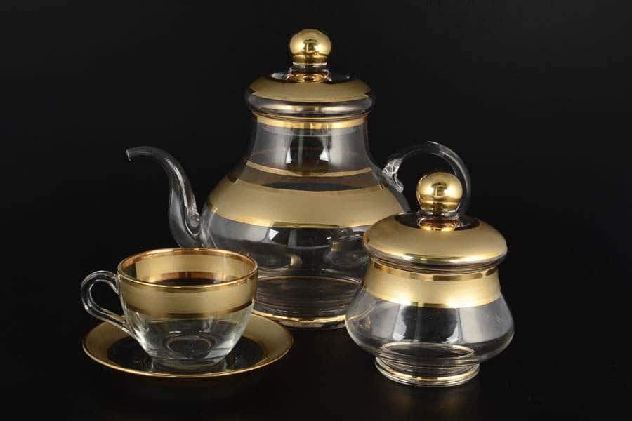 Матовый Чайный сервиз Bohemia на 6 персон 16 предметов