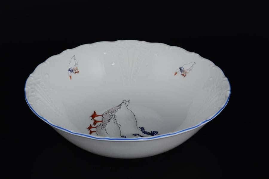Лиана Гуси Салатник Starorolski Porcelain 23 см