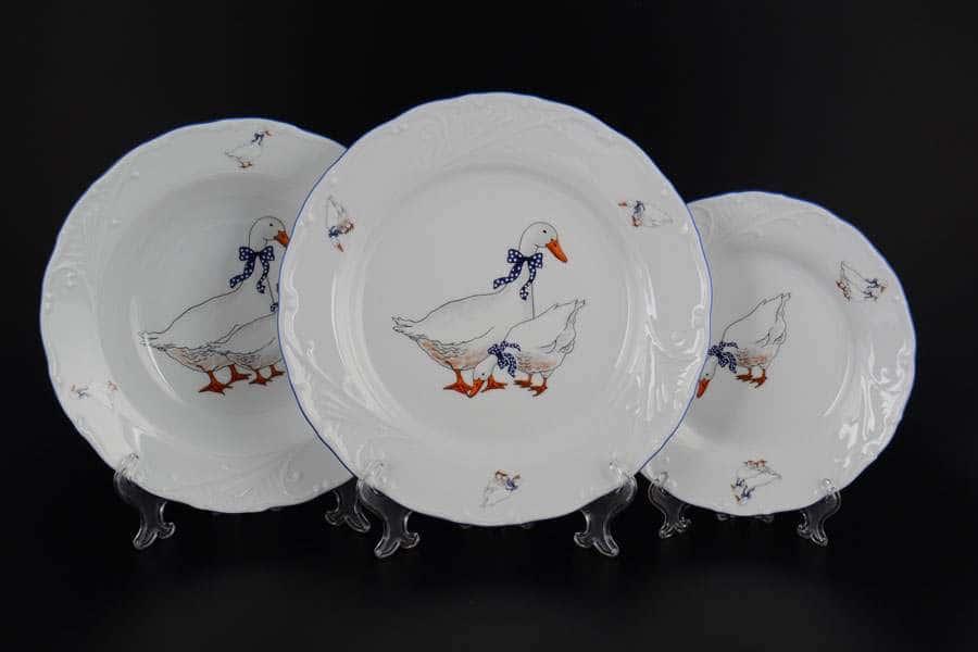 Лиана Гуси Набор тарелок MZ 18 предметов