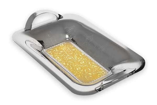 Глубокий поднос с ручками для хлеба  Dubai Gold