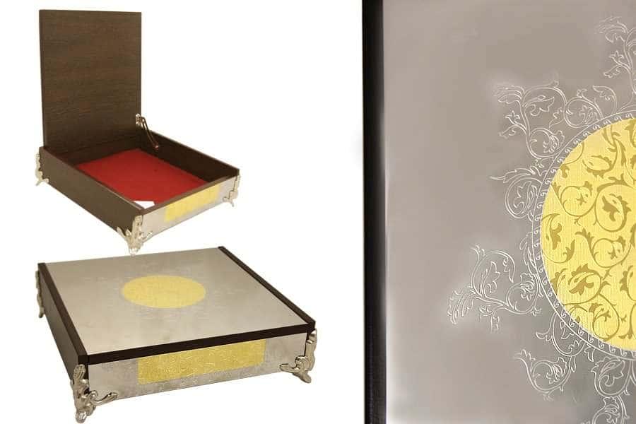 Dubai Gold/Silver Шкатулка квадратная Giorinox Италия