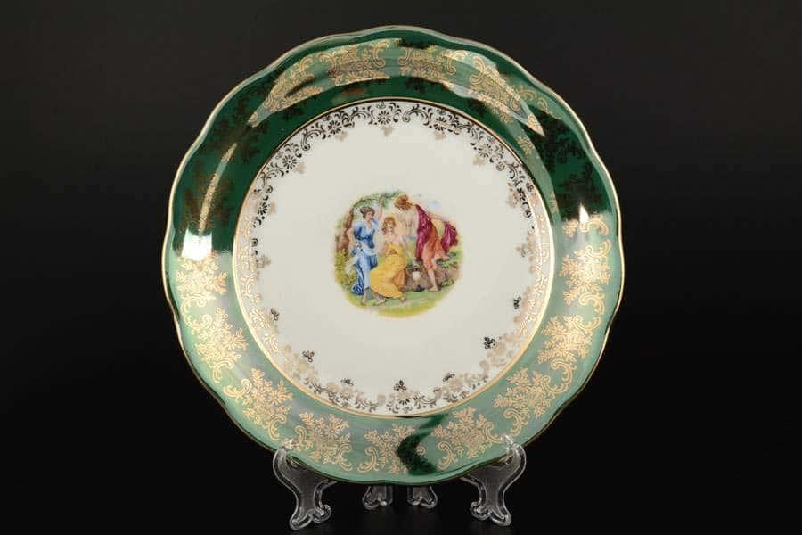 Зеленая Мадонна AL Набор тарелок Royal Porcelain 21 см из 6 штук