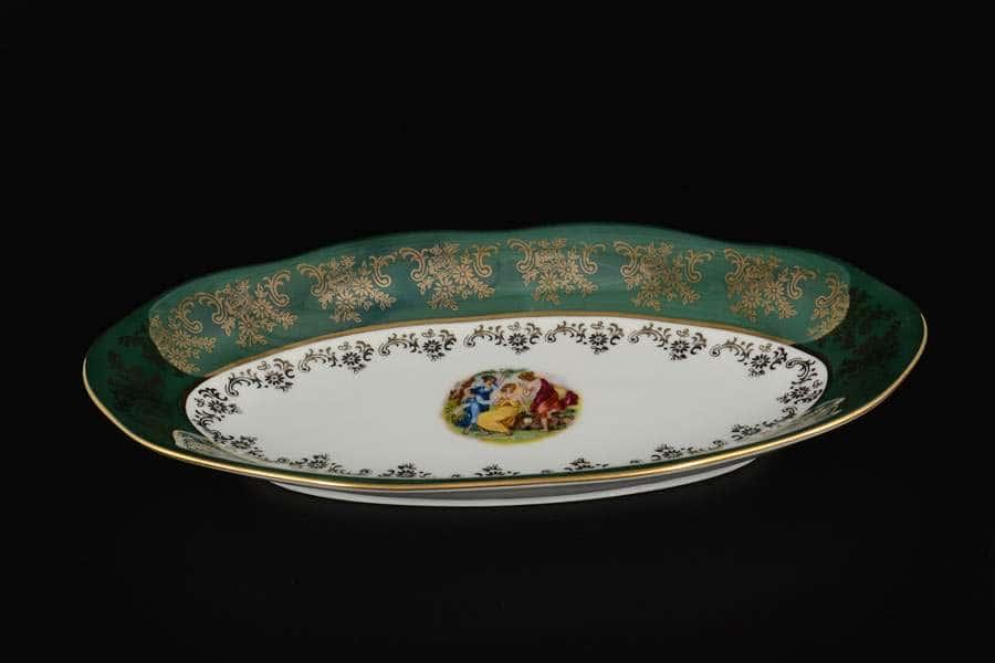 Блюдо овальное 26 Зеленая Мадонна AL Royal Porcelain