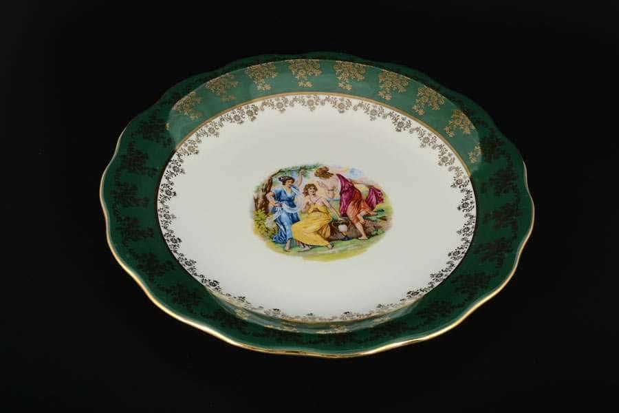 Блюдо круглое 30 Зеленая Мадонна AL Royal Porcelain