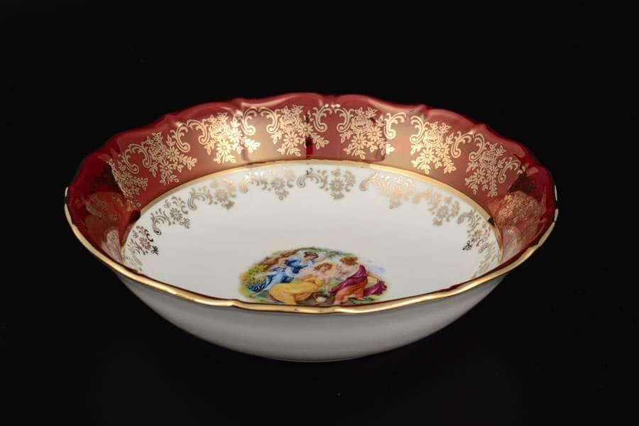 Красная Мадонна Hабор салатников 19 см Royal Czech Porcelain