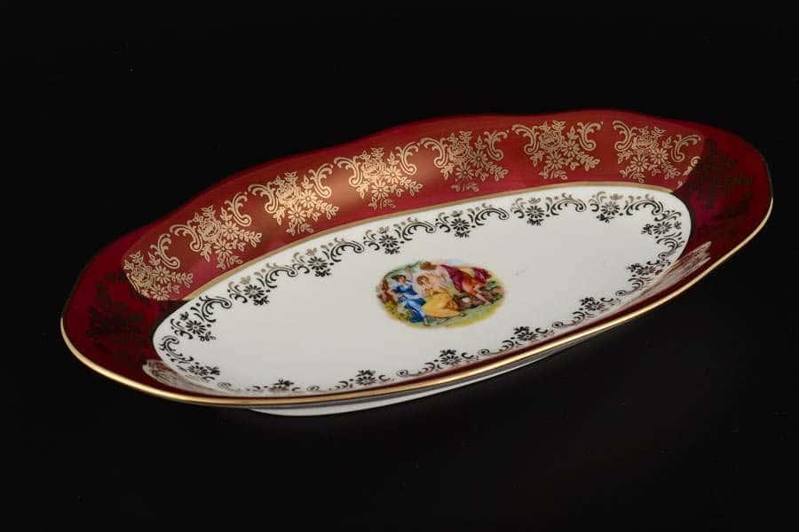 Блюдо овальное 26 см Красная Мадонна Royal Porcelain
