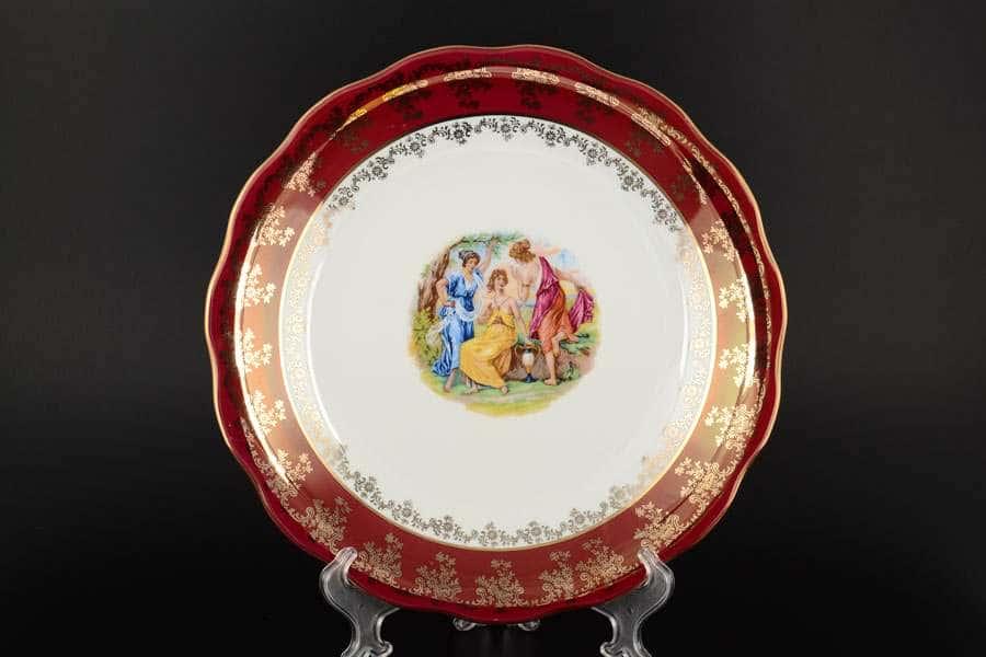 Блюдо круглое 30 см Красная Мадонна Royal Porcelain