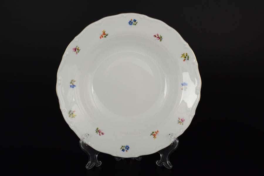 Офелия Мелкие цветы отводка золото Набор тарелок MZ 23 см