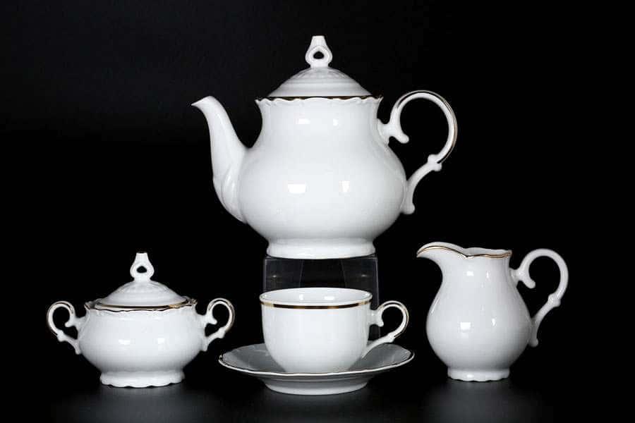 Офелия Отводка золото Чайный сервиз MZ на 6 персон 17 предметов