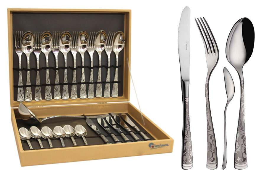 Dubai Argento Набор столовых приборов Giorinox из 25 предметов