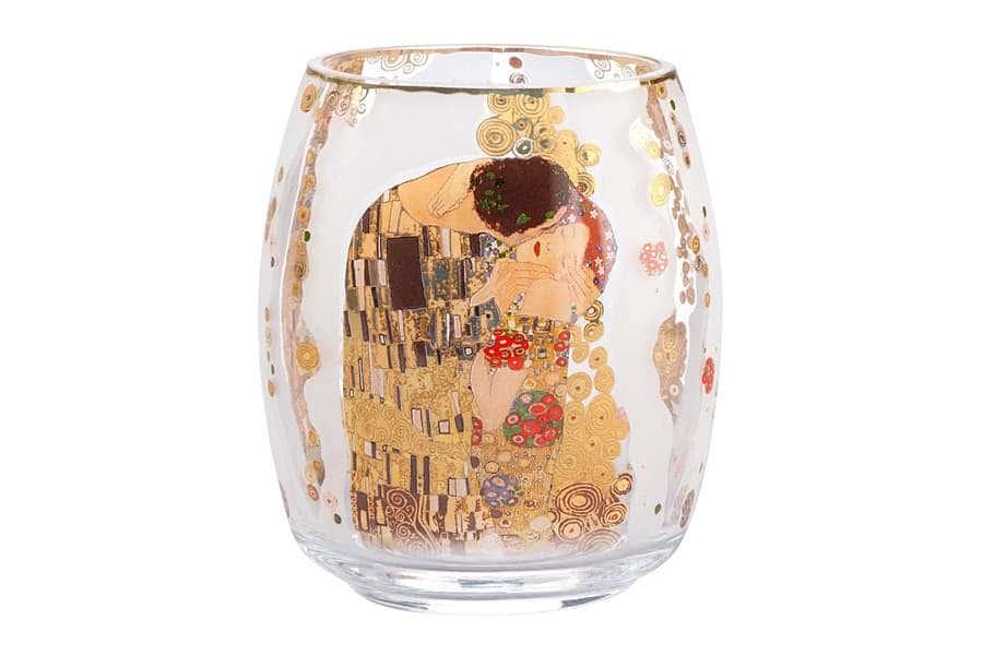Подсвечник стеклянный Поцелуй 13,5 см.