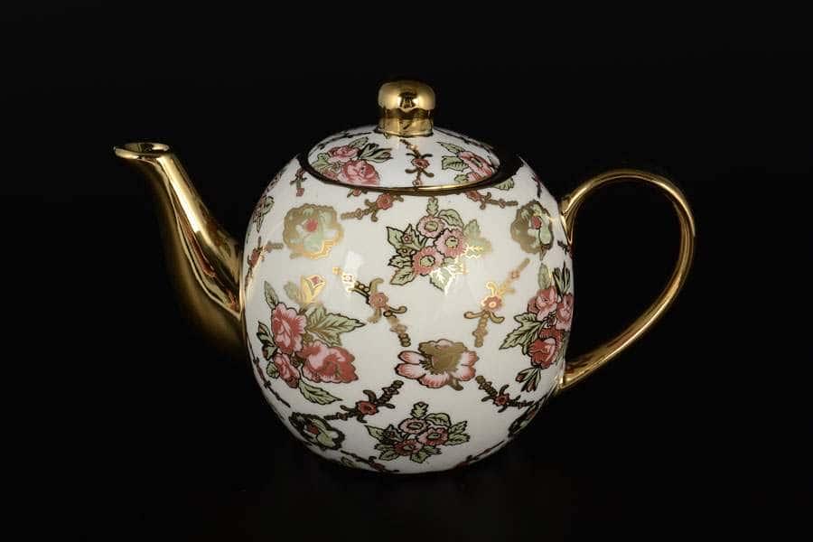 Цветы Заварочный чайник из фарфора Royal Classics