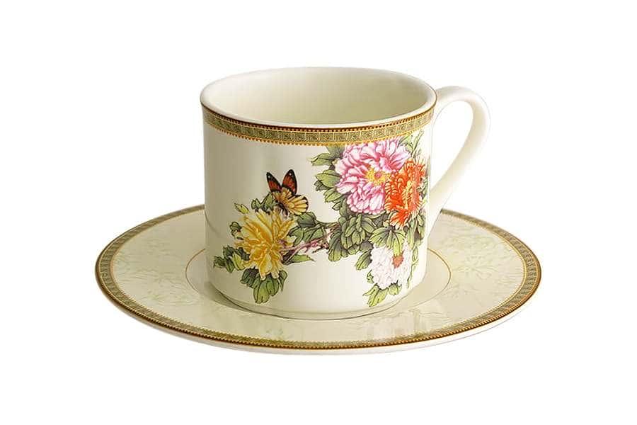 Чашка с блюдцем Японский сад