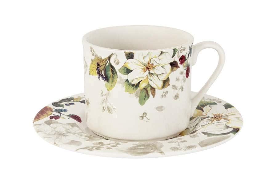 Чашка с блюдцем Магнолия