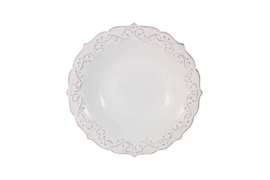 Тарелка суповая Винтаж (белый)