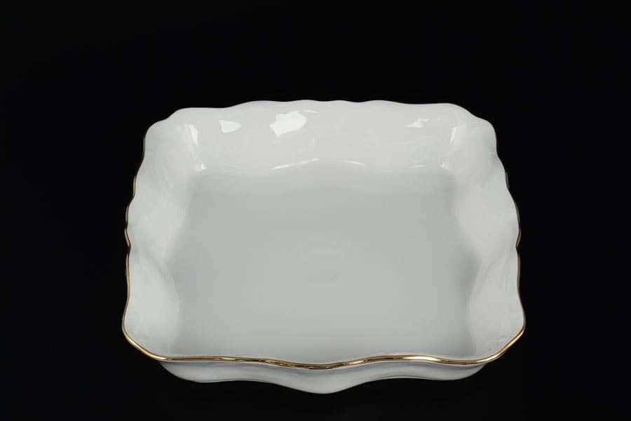 Белый узор Корона Салатник квадратный QC 26 см