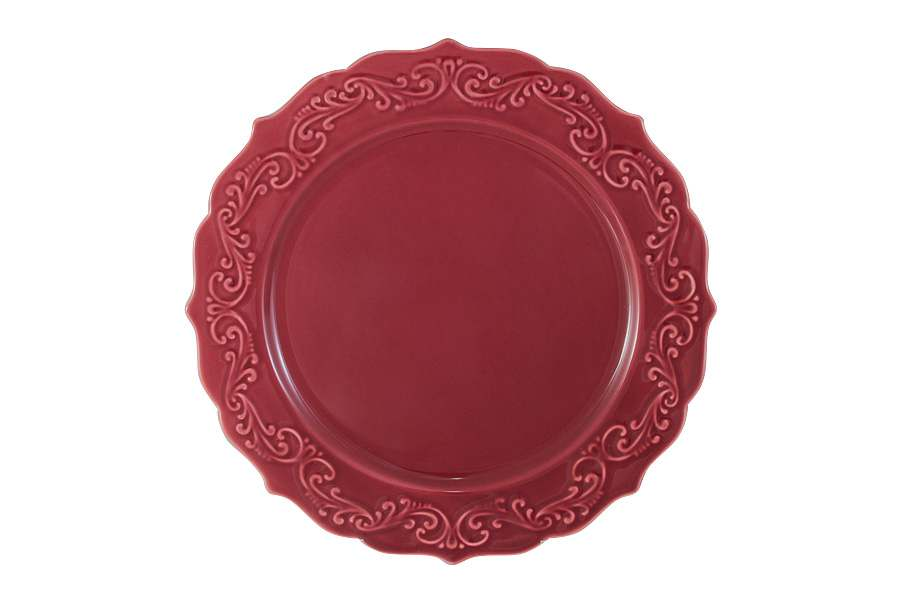 Тарелка обеденная Винтаж (бордо)