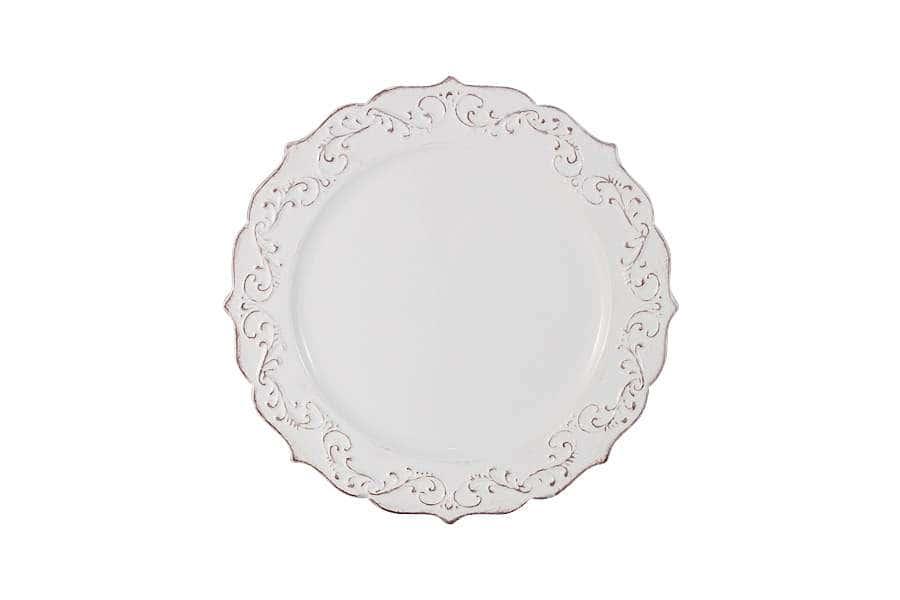 Тарелка закусочная Винтаж (белый)