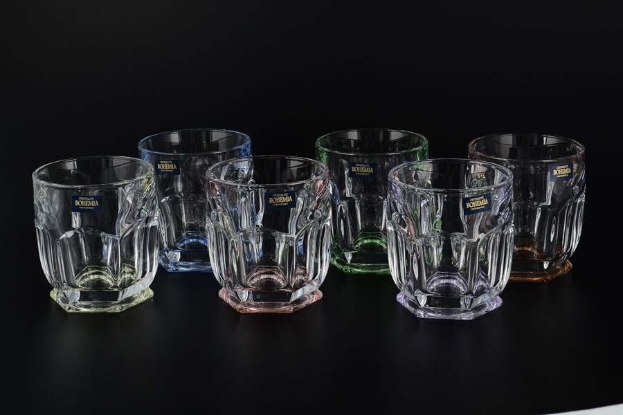 Набор стаканов для виски Сафари Ассорти Crystalite Bohemia