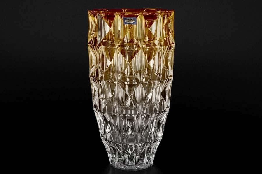 DIAMOND Ваза для цветов 28 см Crystalite Bohemia