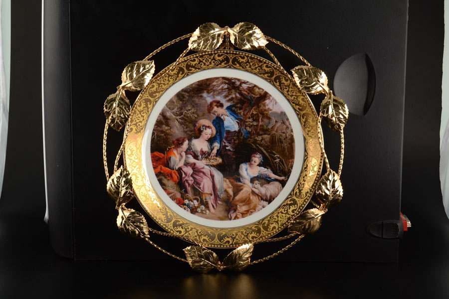 Artitalia Настенная декоративная тарелка из фарфора Италия