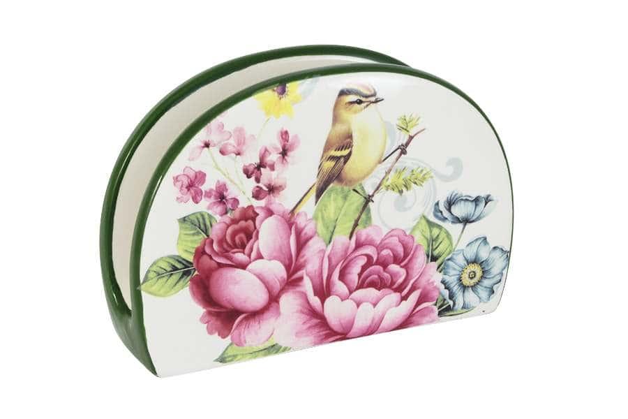 Салфетница Цветы и птицы LCS Италия