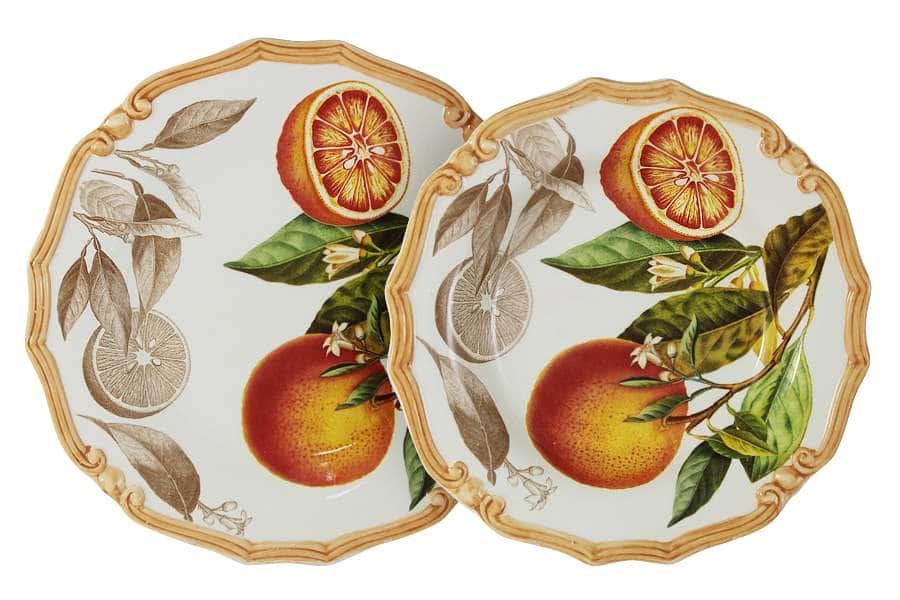 Набор тарелок: суповая + обеденная Апельсины LCS