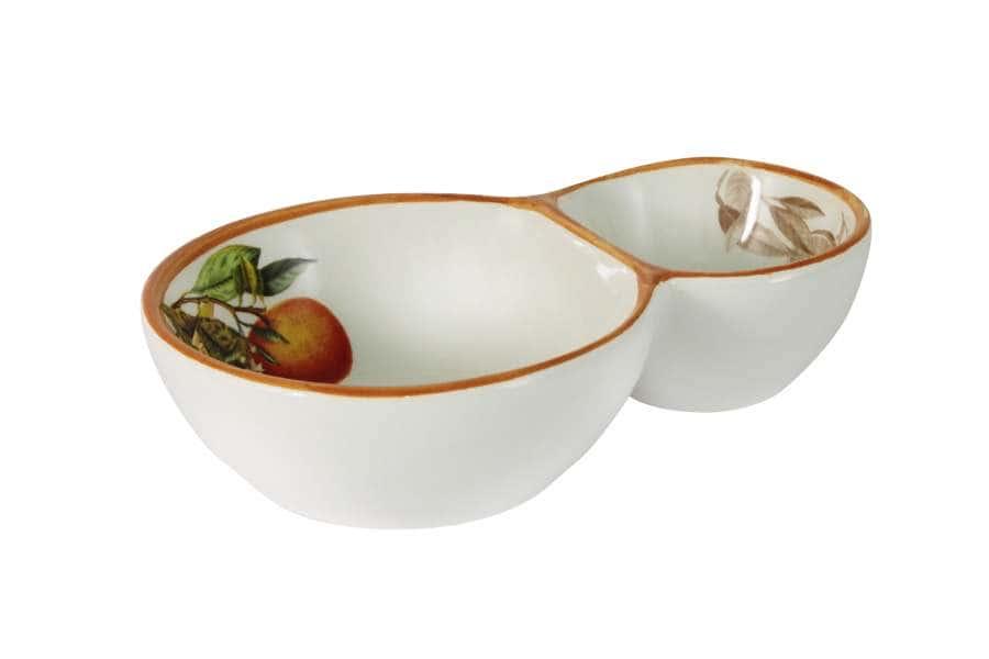 Блюдо 2-х секционное для оливок Апельсины LCS Италия